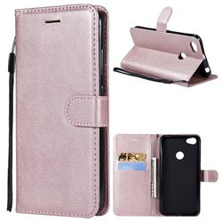 Retro Greek Classic Smooth PU Leather Wallet Phone Case for Xiaomi Mi A2 (Mi 6X) - Rose Gold