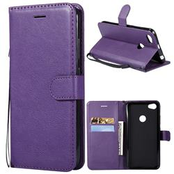 Retro Greek Classic Smooth PU Leather Wallet Phone Case for Xiaomi Mi A2 (Mi 6X) - Purple