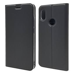Ultra Slim Card Magnetic Automatic Suction Leather Wallet Case for Xiaomi Mi A2 (Mi 6X) - Star Grey