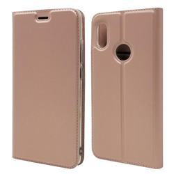 Ultra Slim Card Magnetic Automatic Suction Leather Wallet Case for Xiaomi Mi A2 (Mi 6X) - Rose Gold
