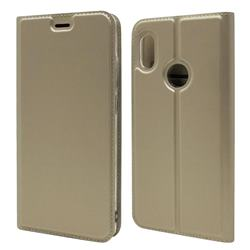 Ultra Slim Card Magnetic Automatic Suction Leather Wallet Case for Xiaomi Mi A2 (Mi 6X) - Champagne