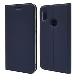 Ultra Slim Card Magnetic Automatic Suction Leather Wallet Case for Xiaomi Mi A2 (Mi 6X) - Royal Blue