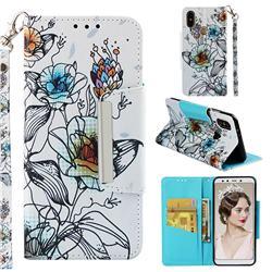 Fotus Flower Big Metal Buckle PU Leather Wallet Phone Case for Xiaomi Mi A2 (Mi 6X)