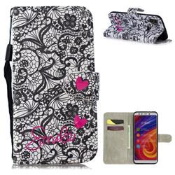 Lace Flower 3D Painted Leather Wallet Phone Case for Xiaomi Mi A2 (Mi 6X)