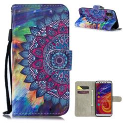 Oil Painting Mandala 3D Painted Leather Wallet Phone Case for Xiaomi Mi A2 (Mi 6X)