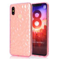 Diamond Pattern Shining Soft TPU Phone Back Cover for Xiaomi Mi 8 - Pink