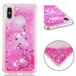 Dynamic Liquid Glitter Quicksand Sequins TPU Phone Case for Xiaomi Mi 8 - Rose