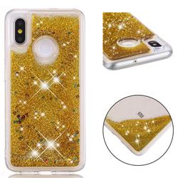 Dynamic Liquid Glitter Quicksand Sequins TPU Phone Case for Xiaomi Mi 8 - Golden