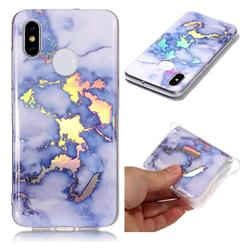 Blue Marble Pattern Bright Color Laser Soft TPU Case for Xiaomi Mi 8