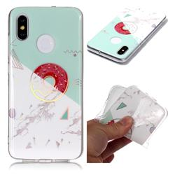 Donuts Marble Pattern Bright Color Laser Soft TPU Case for Xiaomi Mi 8