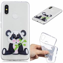 Bamboo Panda Clear Varnish Soft Phone Back Cover for Xiaomi Mi 8