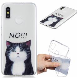 Cat Say No Clear Varnish Soft Phone Back Cover for Xiaomi Mi 8