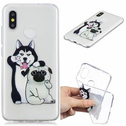 Selfie Dog Clear Varnish Soft Phone Back Cover for Xiaomi Mi 8