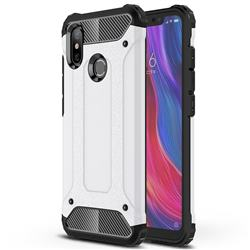 King Kong Armor Premium Shockproof Dual Layer Rugged Hard Cover for Xiaomi Mi 8 - White