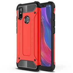 King Kong Armor Premium Shockproof Dual Layer Rugged Hard Cover for Xiaomi Mi 8 - Big Red