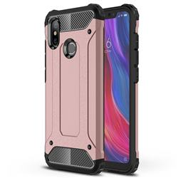 King Kong Armor Premium Shockproof Dual Layer Rugged Hard Cover for Xiaomi Mi 8 - Rose Gold