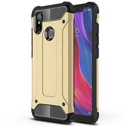 King Kong Armor Premium Shockproof Dual Layer Rugged Hard Cover for Xiaomi Mi 8 - Champagne Gold