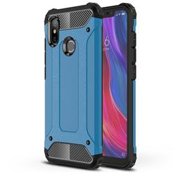 King Kong Armor Premium Shockproof Dual Layer Rugged Hard Cover for Xiaomi Mi 8 - Sky Blue