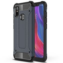King Kong Armor Premium Shockproof Dual Layer Rugged Hard Cover for Xiaomi Mi 8 - Navy