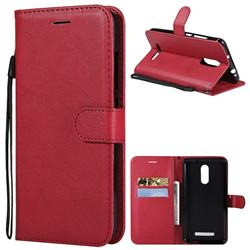 Retro Greek Classic Smooth PU Leather Wallet Phone Case for Xiaomi Mi 8 - Red