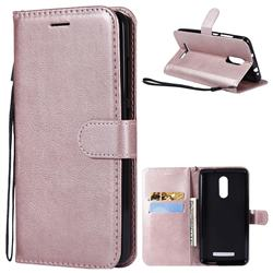Retro Greek Classic Smooth PU Leather Wallet Phone Case for Xiaomi Mi 8 - Rose Gold