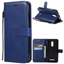 Retro Greek Classic Smooth PU Leather Wallet Phone Case for Xiaomi Mi 8 - Blue