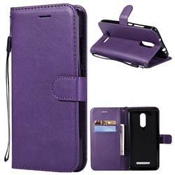 Retro Greek Classic Smooth PU Leather Wallet Phone Case for Xiaomi Mi 8 - Purple