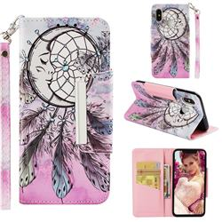 Angel Monternet Big Metal Buckle PU Leather Wallet Phone Case for Xiaomi Mi 8