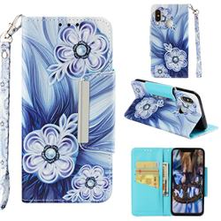 Button Flower Big Metal Buckle PU Leather Wallet Phone Case for Xiaomi Mi 8