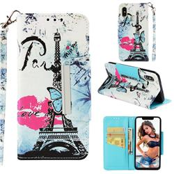 Lip Tower Big Metal Buckle PU Leather Wallet Phone Case for Xiaomi Mi 8