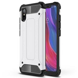 King Kong Armor Premium Shockproof Dual Layer Rugged Hard Cover for Xiaomi Mi 8 Explorer - White