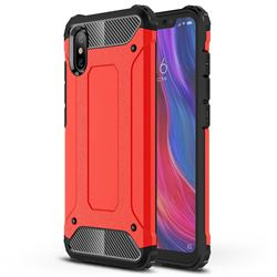 King Kong Armor Premium Shockproof Dual Layer Rugged Hard Cover for Xiaomi Mi 8 Explorer - Big Red