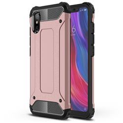 King Kong Armor Premium Shockproof Dual Layer Rugged Hard Cover for Xiaomi Mi 8 Explorer - Rose Gold