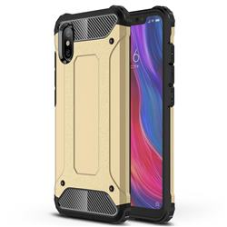 King Kong Armor Premium Shockproof Dual Layer Rugged Hard Cover for Xiaomi Mi 8 Explorer - Champagne Gold