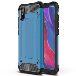 King Kong Armor Premium Shockproof Dual Layer Rugged Hard Cover for Xiaomi Mi 8 Explorer - Sky Blue