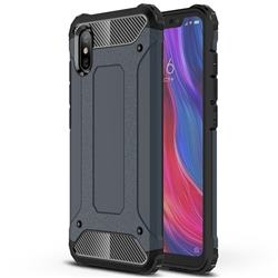 King Kong Armor Premium Shockproof Dual Layer Rugged Hard Cover for Xiaomi Mi 8 Explorer - Navy