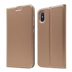 Ultra Slim Card Magnetic Automatic Suction Leather Wallet Case for Xiaomi Mi 8 Explorer - Rose Gold