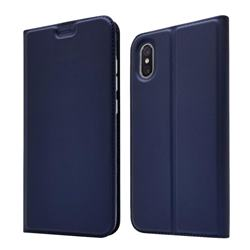 Ultra Slim Card Magnetic Automatic Suction Leather Wallet Case for Xiaomi Mi 8 Explorer - Royal Blue