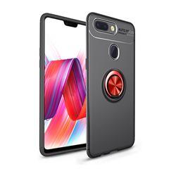 Auto Focus Invisible Ring Holder Soft Phone Case for Xiaomi Mi 8 Lite / Mi 8 Youth / Mi 8X - Black Red