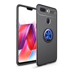 Auto Focus Invisible Ring Holder Soft Phone Case for Xiaomi Mi 8 Lite / Mi 8 Youth / Mi 8X - Black Blue