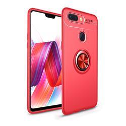 Auto Focus Invisible Ring Holder Soft Phone Case for Xiaomi Mi 8 Lite / Mi 8 Youth / Mi 8X - Red