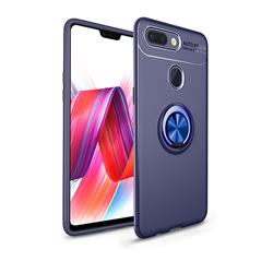 Auto Focus Invisible Ring Holder Soft Phone Case for Xiaomi Mi 8 Lite / Mi 8 Youth / Mi 8X - Blue