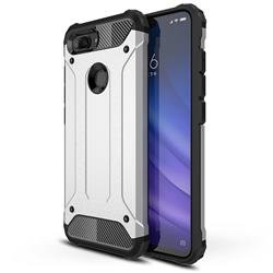 King Kong Armor Premium Shockproof Dual Layer Rugged Hard Cover for Xiaomi Mi 8 Lite / Mi 8 Youth / Mi 8X - Technology Silver