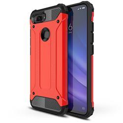 King Kong Armor Premium Shockproof Dual Layer Rugged Hard Cover for Xiaomi Mi 8 Lite / Mi 8 Youth / Mi 8X - Big Red