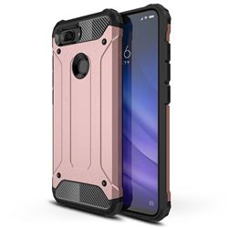 King Kong Armor Premium Shockproof Dual Layer Rugged Hard Cover for Xiaomi Mi 8 Lite / Mi 8 Youth / Mi 8X - Rose Gold