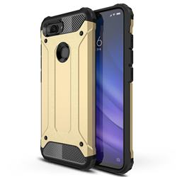 King Kong Armor Premium Shockproof Dual Layer Rugged Hard Cover for Xiaomi Mi 8 Lite / Mi 8 Youth / Mi 8X - Champagne Gold