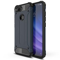 King Kong Armor Premium Shockproof Dual Layer Rugged Hard Cover for Xiaomi Mi 8 Lite / Mi 8 Youth / Mi 8X - Navy