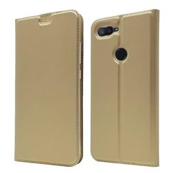 Ultra Slim Card Magnetic Automatic Suction Leather Wallet Case for Xiaomi Mi 8 Lite / Mi 8 Youth / Mi 8X - Champagne