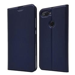 Ultra Slim Card Magnetic Automatic Suction Leather Wallet Case for Xiaomi Mi 8 Lite / Mi 8 Youth / Mi 8X - Royal Blue