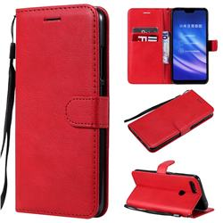 Retro Greek Classic Smooth PU Leather Wallet Phone Case for Xiaomi Mi 8 Lite / Mi 8 Youth / Mi 8X - Red